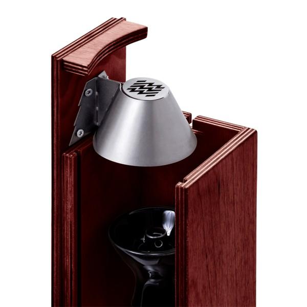 Handgefertigte tragbare Shisha mit Holzkohle-Sicherheitssystem