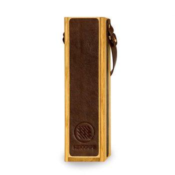 Ledershisha auf Eichenholz, tragbare Shisha von höchster Qualität