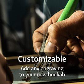 Custom hookah_engrave or change the shisha color
