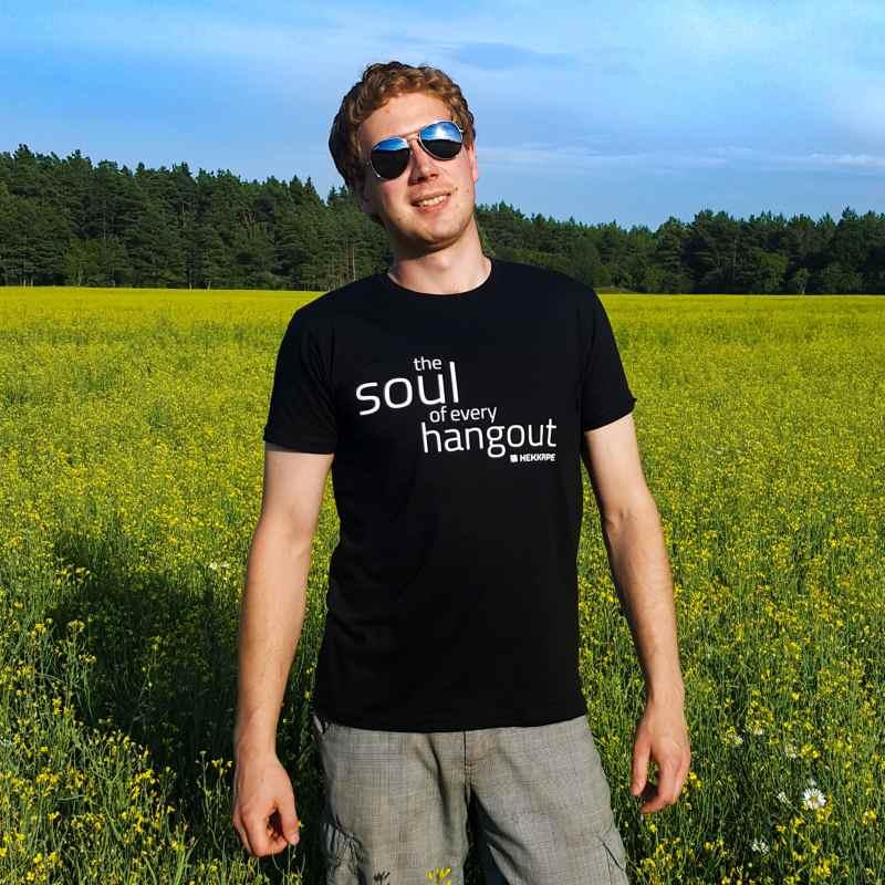 Shisha-Marken-Merchandise - Schwarzes T-Shirt für Männer - Lifestyle Fan-Ausstattung Foto