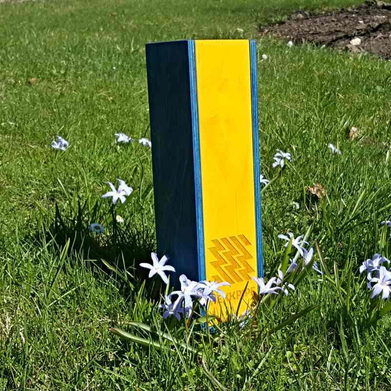Shisha-Frontabdeckung - Ukrainische Flagge blau und gelb