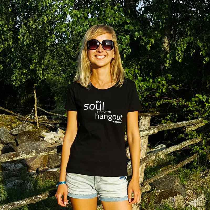 Schwarzes T-Shirt für Frauen - Wasserpfeifen-Marken-Fan-Ausstattung