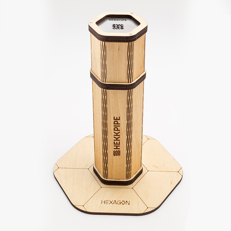 Naturholzshisha Hekkpipe Hexagon - die beste tragbare Shisha auf dem Markt