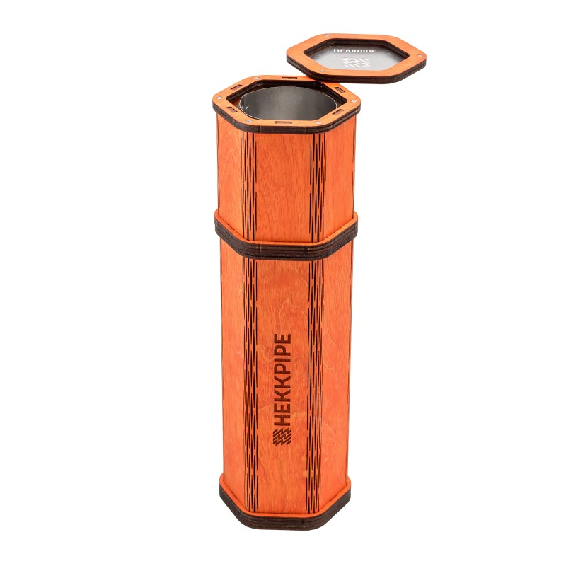 Hekkpipe-Hexagon-orange-color-handmade-hookah