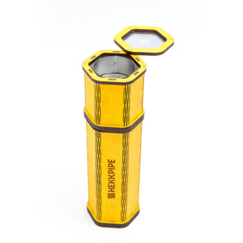 Gelbe Shisha - Hekkpipe Hexagon - fügen Sie Ihr eigenes Design auf der Shisha hinzu - kundenspezifische, widerstandsfähige Outdoor-Shisha