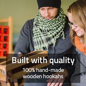 Qualitative Shisha - handgefertigte Shisha aus Holz