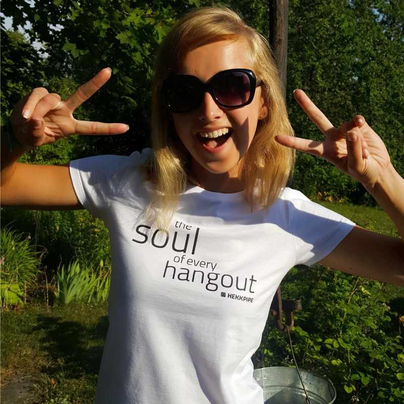 Weißes T-Shirt für Frauen - Lifestyle Fan-Ausstattung Foto