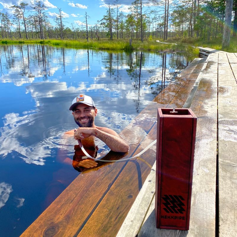 Swimming in swamp and enjoying hookah - alextseval