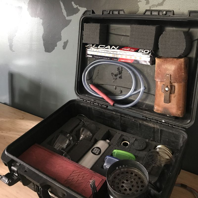 Travel kit - all the essentials for a roadtrip - Hookah Hekkpipe